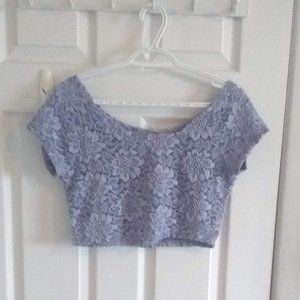 🌼3 for$20🌼  Light blue lace crop top